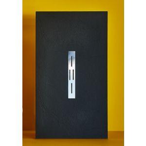 Duschwanne aus Mineralwerkstoff mit Rinne 140x70cm - 140x100cm