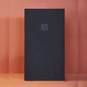 Mineralguss Duschwanne Superflach 100x80x3 cm